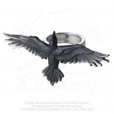 """Alchemy Gothic """"Black Consort"""" Ring"""