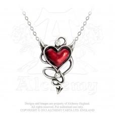 Alchemy Gothic Devil Heart Halskette klein
