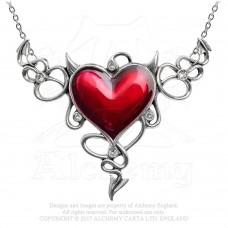 Alchemy Gothic Devil Heart Halskette groß