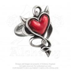 Alchemy Gothic Devil Heart Ring