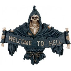 """Wandschild """"WELCOME TO HELL"""""""